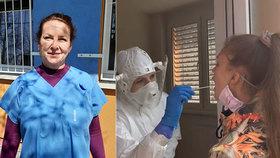 Zdravotní sestra Romana odebrala už stovky vzorků: Ve velkých holinách jedeme na maximum