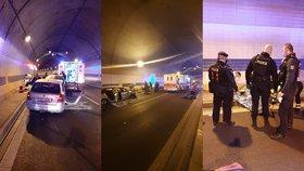 VIDEO: Polámané ruce, masivní krvácení a šok! Řidič se zřídil při nehodě v Blance, pomohli mu policisté