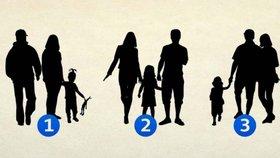 Psychologický test: Která z trojic netvoří rodinu? Odpověď odhalí vaši osobnost!