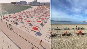 Fronty a striktní pravidla: Jak bude vypadat koupání na plážích po koronavirové pandemii?