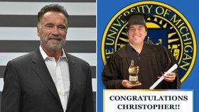 Syn Schwarzeneggera promoval! Táta mu poslal dojemný vzkaz
