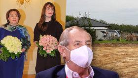 Zeman začal stavět svůj bungalov v Lánech. Chystá i zahradu, květiny vybere Ivana