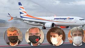 Smartwings jako státní aerolinky? Není to na pořadu dne, míní šéf ČSSD. Proti je i opozice