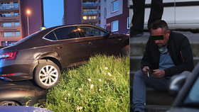 Opilý taxikář zdemoloval na Barrandově několik aut: Předtím přivezl pasažéry