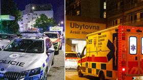 Hádka na nože v Hloubětíně: Jednoho muže odvezla sanitka, druhého policisté