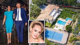 Harry s Meghan si užívají luxusní karanténu v Beverly Hills: Průvodkyni jim dělá zpěvačka Adele!