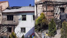 Rodině se 3 dětmi shořel dům: Nebyla to náhoda, tvrdí a prosí o pomoc