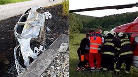 Holčička (†8) po nehodě uhořela v autě: Mamince Alexandře to tají! Sama bojuje o život