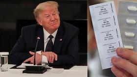 Univerzity testují lék, který si naordinoval Trump. Pomáhá, nebo škodí?