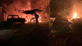 Autoservis na Berounsku lehl popelem: Devět aut zapálil někdo úmyslně