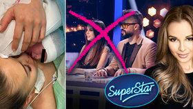 Monika Bagárová musí kvůli porodu okamžitě opustit SuperStar! Kdo ji nahradí ve finále?