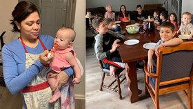 Supermáma 16 dětí popsala život v karanténě: Vaří celý den, ale stejně chce znovu otěhotnět