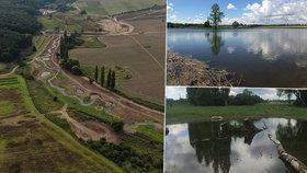 Mezi Běchovicemi a Dubčí vznikl čtvrtý největší pražský rybník: Pomůže proti suchu, povodním i zahálce