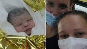 Do porodnice se Lauře čekat nechtělo: Narodila se mezi vinicemi ve Velkých Pavlovicích