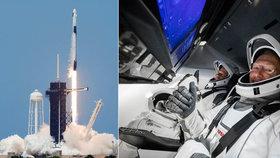 """Loď Crew Dragon odstartovala do vesmíru. """"Něco neuvěřitelného,"""" říká Trump, Musk chce na Mars"""
