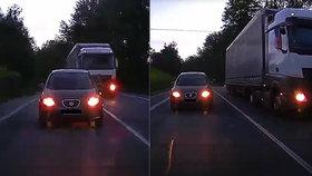 Agresivní řidič kamionu na Liberecku: V obci předjížděl na plné čáře a řítil se prý i 90 km/h