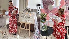 Moniku Bagárovou kopírují slovenské maminy? Stejné šaty a velkolepé přivítání!