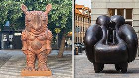 Prahu zaplavily bizarní sochy! Do města se vrátil Sculpture festival. Co si zase vymysleli?