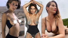 Eva Decastelo (41) se znovu odhalila! Podívejte se, jak rostl dekolt známé krásky