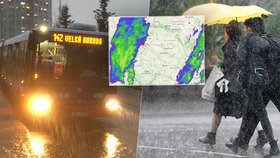 Do Česka přišly bouřky a kroupy. Platí výstraha před povodněmi, sledujte radar Blesku