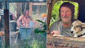 Bolek Polívka (70) nahý ve vaně! Co uniklo z natáčení filmu o týraném voříškovi?