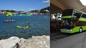Do Chorvatska i autobusem. Flixbus láká na noční spoje, vyjede i na Slovensko