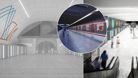 Vizualizace: Praha zná podobu pro další 3 stanice metra D. Ozdobí je čáry života nebo geometrické obrazce