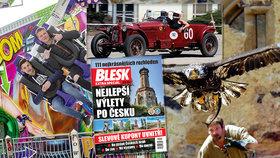 Tipy na víkend: Retrosetkání veteránů, sokoli na Točníku i letní Matějská