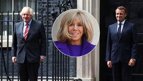 """Macron vyrazil do Londýna sám, Brigitte (66) musela """"pod kudlu"""". Co se první dámě stalo?"""