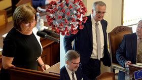 """Chaos ve Sněmovně kvůli koronaviru: Poslanců měla být jen polovina, kdo si """"dupnul""""?"""