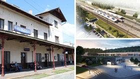 Stanice ve Vysočanech se změní k nepoznání. Opraví i trať ze Mstětic do Vysočan