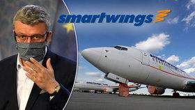"""Záchrana Smartwings: Firma dluží 200 milionů letišti. A Havlíček """"kouzlí"""" s čísly, ukázala ČT"""