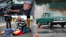 Senioři za volantem nejsou škodní, brání se starší řidiči i experti. Herec Nový radí kurz