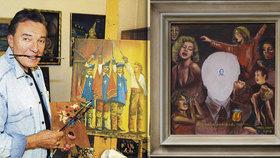 Dražba utajovaného obrazu Karla Gotta (†80): Drama do poslední chvíle! Za kolik se prodal?