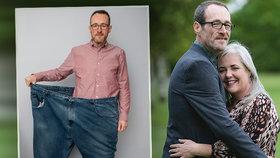 Muž zhubl přes 130 kg a provlékne se svou dřívější nohavicí! Konečně také našel lásku