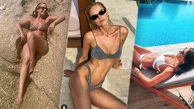 Žhavé slunce svléká české a slovenské krásky! Která oblékla nejtitěrnější plavky?