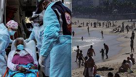"""""""Posílají lidi na porážku,"""" zuří experti. V Brazílii již otevřeli i slavnou pláž Copacabana"""
