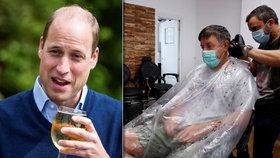 Do hospody zašel i princ William. Britové vzali útokem otevřené putyky a kadeřnictví