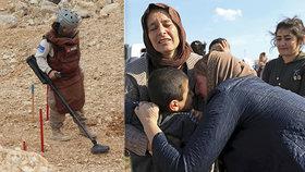 """Hana """"čistí"""" zemi od min džihádistů. Po utrpení v područí ISIS chtějí jezídky zpět domů"""