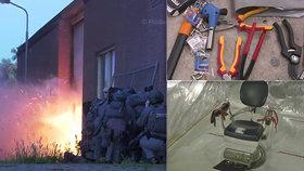Zubařské křeslo, pouta, kleště i chirurgické nástroje: Policisté objevili mučírnu mafie!