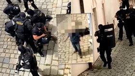 Po masakru ve Vrútkách policie neváhala: Video zachytilo drsný zásah proti muži s nožem