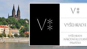 """""""V"""" na počest Vyšehradu i jeho jediného krále: Národní kulturní památka v Praze má nové logo"""