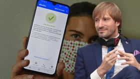 """Aplikaci eRouška čeká """"zlepšovák"""". Dorozumí se i s Němci, slíbil Vojtěch k 1. září"""