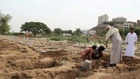 Ve válkou zmítané zemi nemají lidé na léčbu. Hřbitovy v Jemenu nezvládají nápor obětí