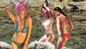 Takhle se baví porno modelky u moře? Krásná Němka odhodila stud i plavky!