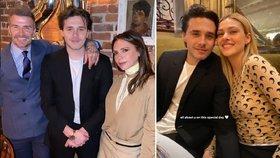 Radost v rodině Beckhamových: Syn Brooklyn se zasnoubil s dívkou, se kterou není ani rok!