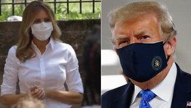 Melania Trumpová se v roušce objevila poprvé. A Ivanka doplnila hedvábí jednorázovou ochranou