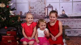Nelehký osud tří malých sester: Leukémie prostřední Páti (4) rodině změnila život
