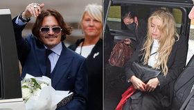 Soud roku? Vysmátý Johnny Depp a jeho strhaná »ex« perou špinavé prádlo!