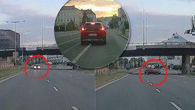 VIDEO: Riskantní manévr v Holešovicích! Zmatený řidič vjel do protisměru na tříproudou silnici